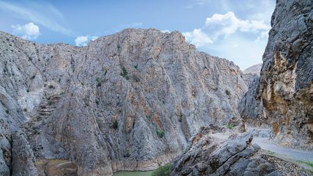 Landscape view of Dark Canyon in Kemaliye or Egin, Erzincan,Turkey