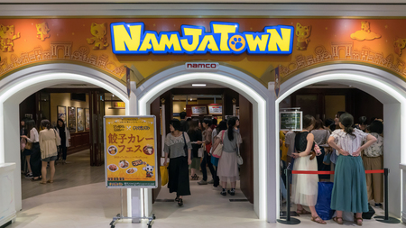 Tokyo, Japan - August 2018: Namjatown amusement park is an indoor theme park in Sunshine City by Japanese video game company Namco