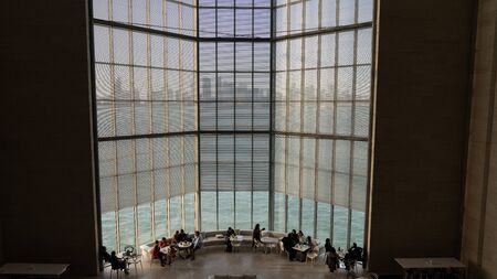 Doha, Qatar - February 2019: Interior scene from Museum of Islamic Art, Doha, Qatar