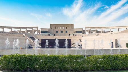 Doha,Qatar- January 2019: Katara Cultural village multi purpose hall Amphitheater