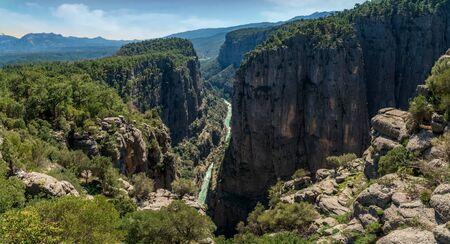 Tazi Canyon and cliffs landscape from Manavgat, Antalya,Turkey