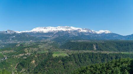 The Taurus Mountain range in Antalya, Turkey