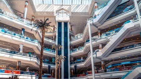 Istanbul, Turkey - August 2019: Cevahir Shopping Center. A modern shopping mall located in Mecidiyekoy, Istanbul.