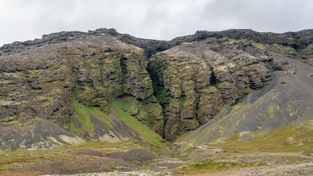 Rauofeldsgja ravine gorge in Snaefellsbaer region of Iceland