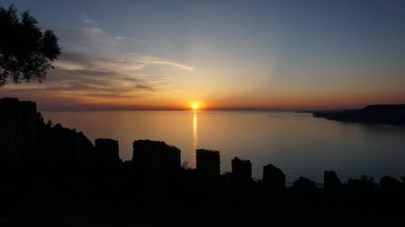 Sunset as seen from the Alanya Castle, Antalya, Turkey 写真素材