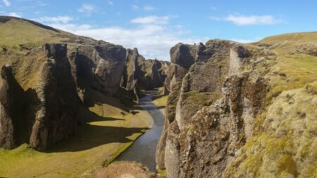 The Picturesque Fjadrargljufur Canyon in South Iceland