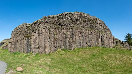 Dverghamrar sea eroded basaltic columns also known as the Dwarf Rocks, South Iceland. 写真素材