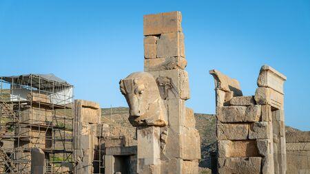 Persapolis, Iran - May 2019: Historical city of Persapolis in Shiraz, Iran