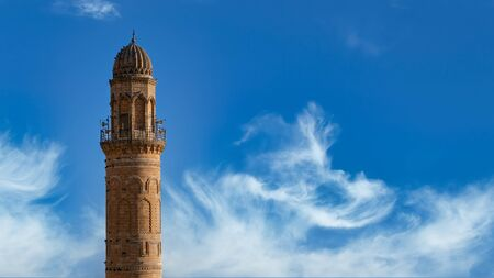 Minaret of Ulu Cami, also known as Great mosque of Mardin