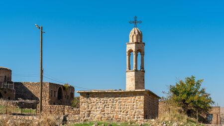 Church of abandoned Syriac village of Killit Dereici, near Savur town, in the southeastern Turkey