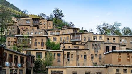 Masuleh, Iran - May 2019: Houses in traditional village of Masuleh in Gilan province Publikacyjne