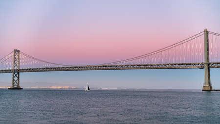 Panoramic view of San Francisco Bay bridge in California, United States