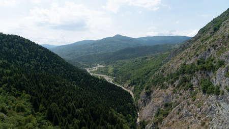 View of Valla Canyon in Kure mountains, Pinarbasi, Kastamonu, Turkey