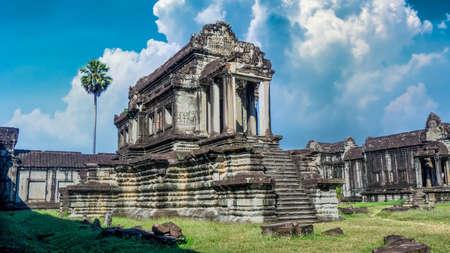 Siem Reap, Cambodia - December 2015: Angkor Wat temple in Siem Reap in Cambodia.