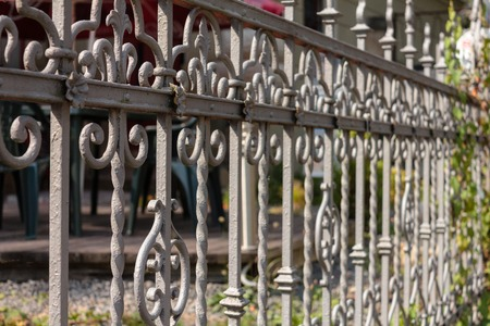 Forged fence in the old part of Liberec. Czech Republic