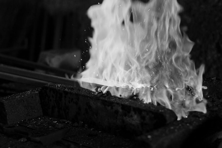 forge: Hot Metal in a Blacksmith Forge.