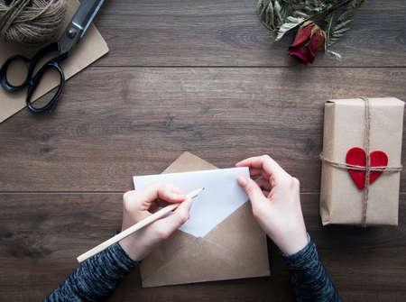 Valentinstag Brief Standard-Bild