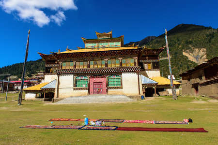tantra: Temple in summer Tumu it s a Tibet Tantra temple at Xinlong County