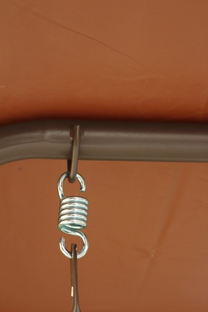 springy: Spring hanger with a rope at the park Stock Photo