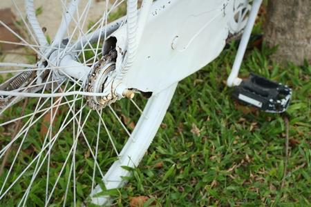 sprocket: Pignone di biciclette parcheggiate nel parco.