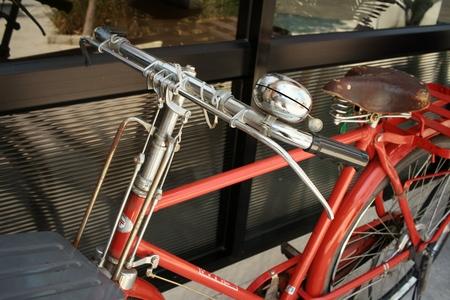 handlebar: Vintage of bicycle handlebar at the park.