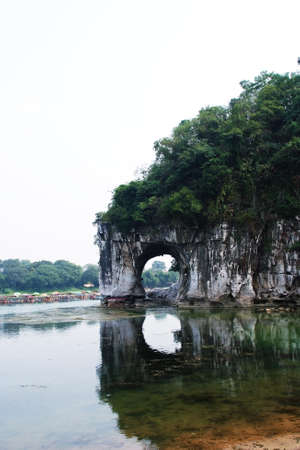 submerge: Guilin Elephant Trunk Hill Stock Photo