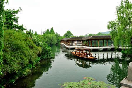 superficie: Ba�o de Hangzhou zona Hu Bay Editorial