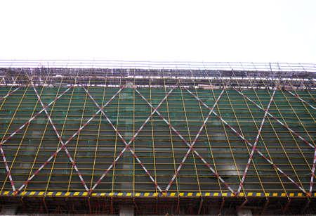 scaffold: Scaffold on building
