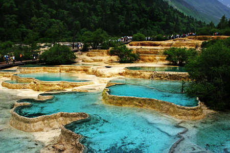 calcium carbonate: Scenario naturale a huanglong