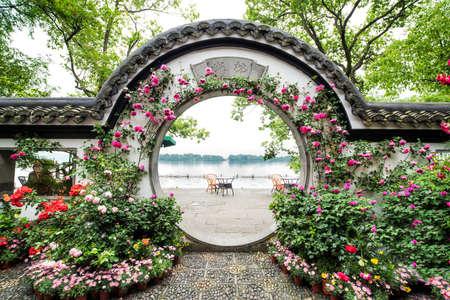jardines con flores: Guozhuang lugar pintoresco, Hangzhou Editorial