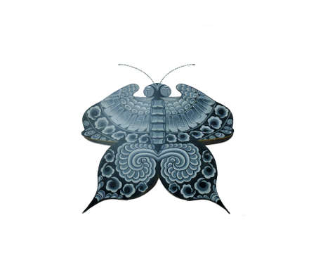 paper kites: Butterfly shaped paper kite