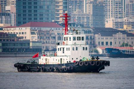 huangpu: Shanghai Huangpu River tugs Editorial