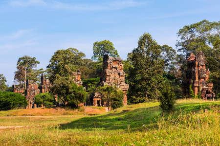 12: Cambodia 12 Zodiac Tower Stock Photo