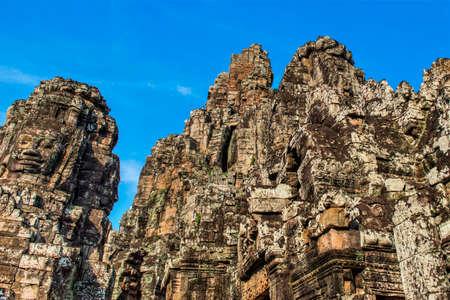 bayon: Bayon temple at Cambodia Stock Photo