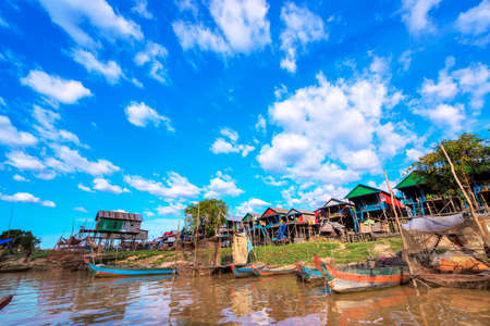 tonle sap: Cambodias Tonle Sap floating village of Shandong province