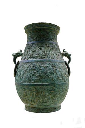 kettles: Anillos de orejas de animales dinast�a Song del Sur en sus calderas de cobre Editorial