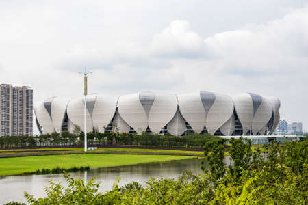 olympic sports: Hangzhou Olympic Sports Center Stadium Editorial