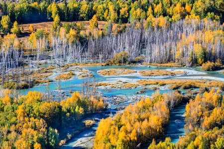 Xinjiang Sino Kazakhstan border Grand Canyon Archivio Fotografico