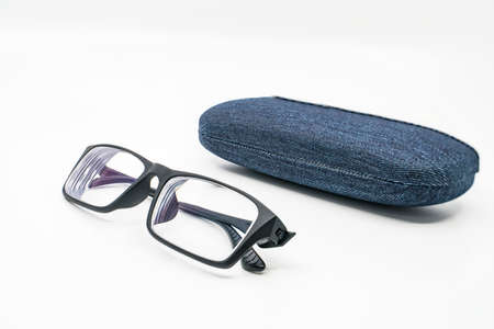 shortsighted glasses Stock Photo