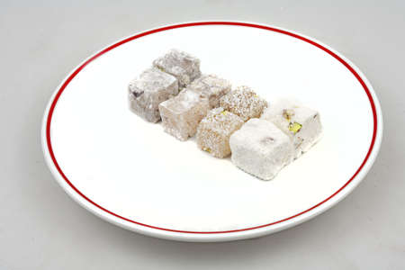 lokum, turkish delight rolled with coconut