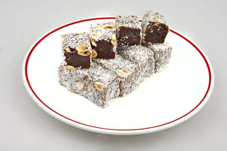 turkish delight with coconut