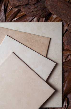 still life, ceramic tile Stock Photo