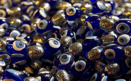 amulet, blue bead worn against the evil eye Stock Photo