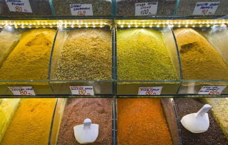 spices at grand bazaar in istanbul  Stock Photo