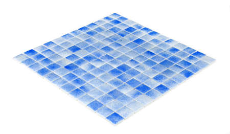 blue mosaic,texture, ceramic Stock Photo