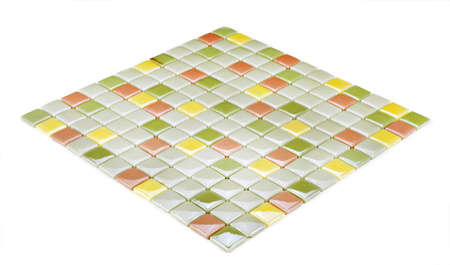 colored mosaic texture Stock Photo