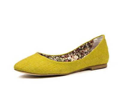 mustard yellow  babette women shoe made of canvas