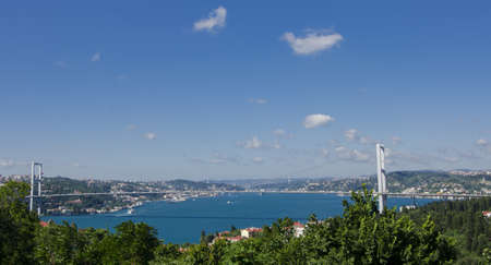 Day view of the Bosphorus Bridge in Istanbul