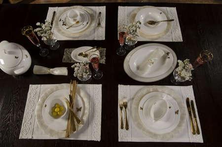 royal dinner table Stock Photo