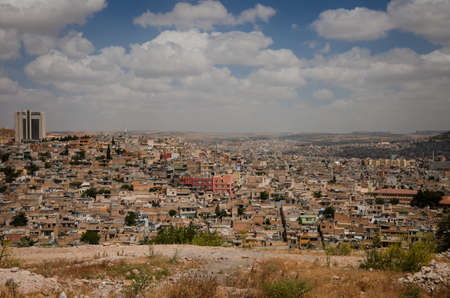 Panoramic view of Urfa city Stock Photo
